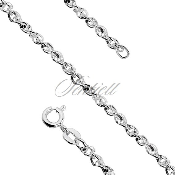 Silver (925) chain necklace Singapur diamond cut chain Ø 065