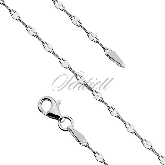 Silver (925) chain necklace coffee Ø 030