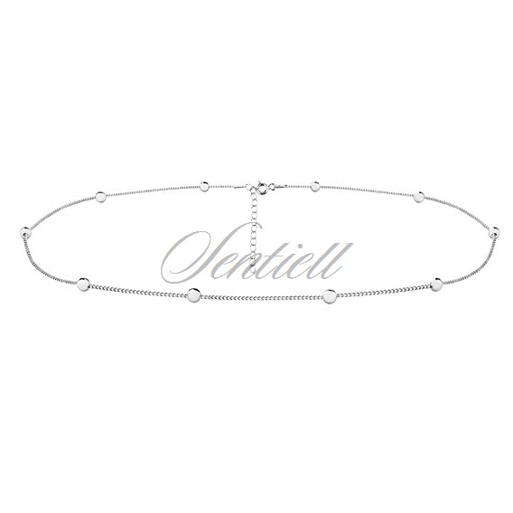 Silver (925) choker necklace with balls