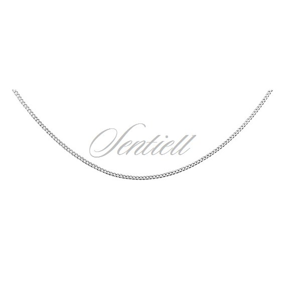Silver (925) diamond-cut chain - curb Ø 027