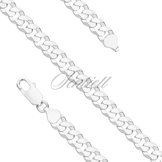 Silver (925) diamond-cut  chain - curb extra flat Ø 0180