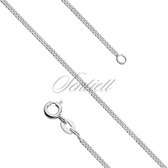 Silver (925) diamond-cut curb chain - curb Ø 044