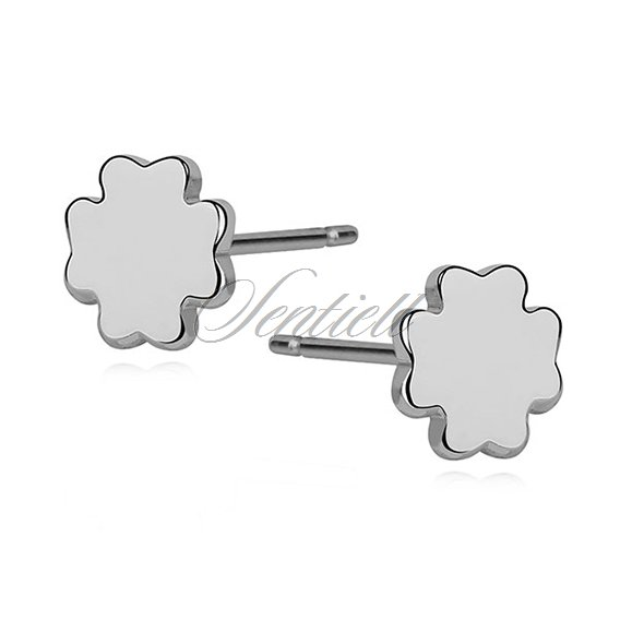 Silver (925) earrings - clovers