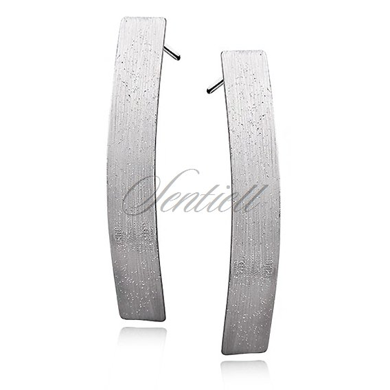 Silver (925) earrings - diamound cut, long