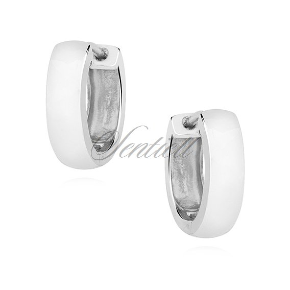 Silver (925) earrings hoops - highly polished