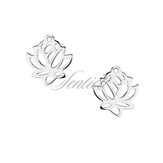 Silver (925) earrings lotus flower