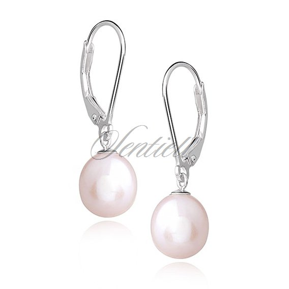 Silver (925) earrings - natural pearl