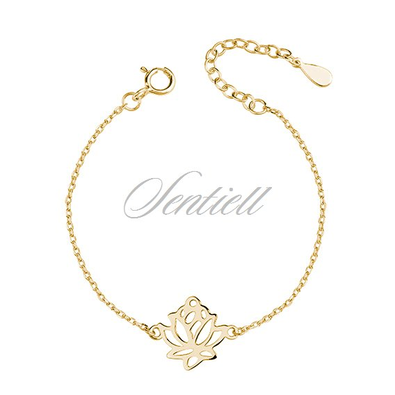 Silver (925) gold-plated bracelet lotus flower
