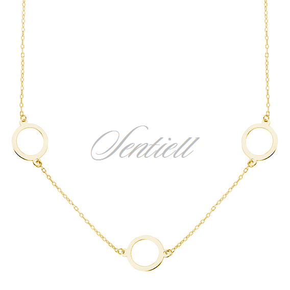 Silver (925) gold-plated necklace - three circles