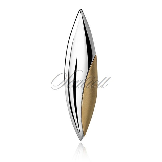 Silver (925) gold-plated pendant - marquise with satin