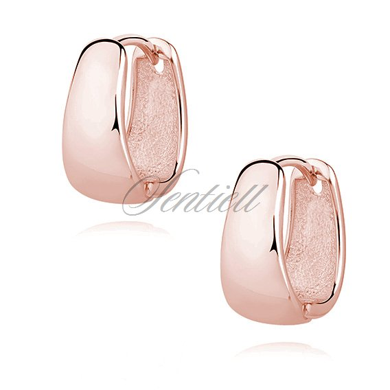 Silver (925) high polished earrings - rose gold-plated