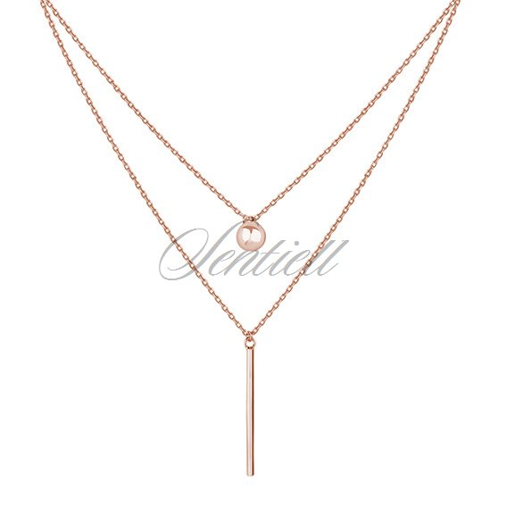 Silver (925) necklace rose-gold plated