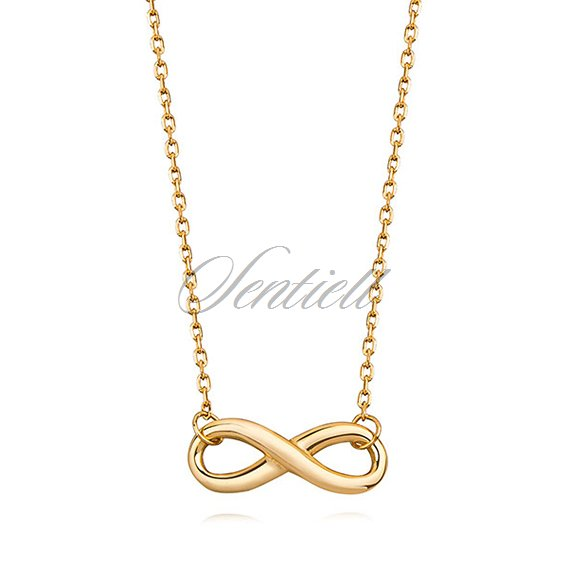 Silver (925) necklace Infinity gold-plated