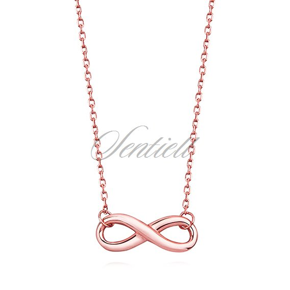 Silver (925) necklace Infinity rose gold-plated