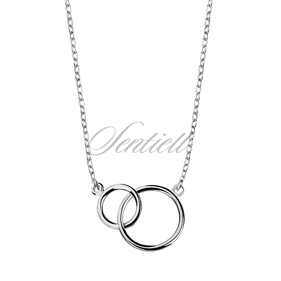Silver (925) necklace connected circles