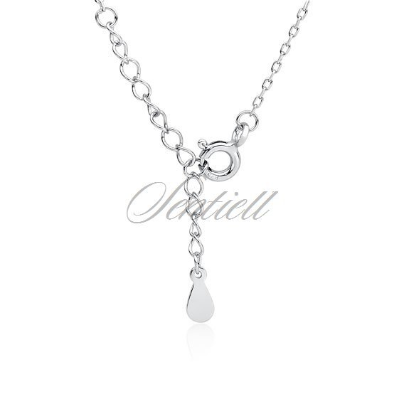Silver (925) necklace  - crescent with zirconia