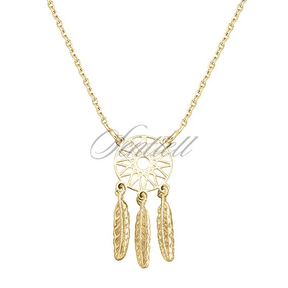 Silver (925) necklace - gold-plated dreamcatcher