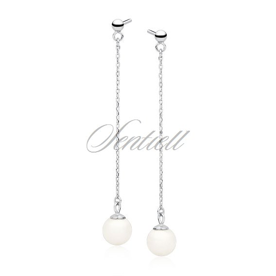 Silver (925) pearl earrings