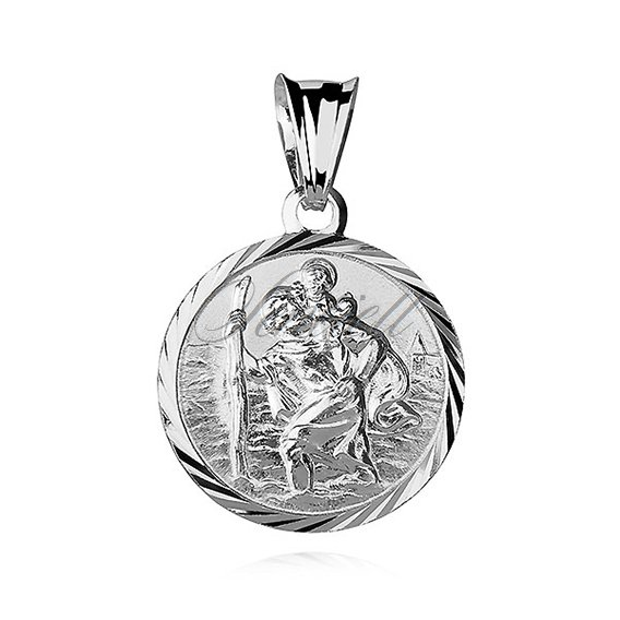 Silver (925) pendant Saint Christopher
