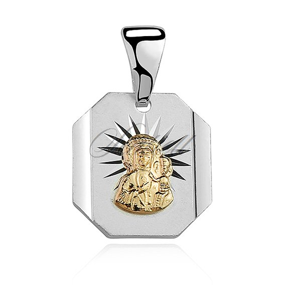 Silver (925) pendant Virgin Mary / Black Madonna gold-plated