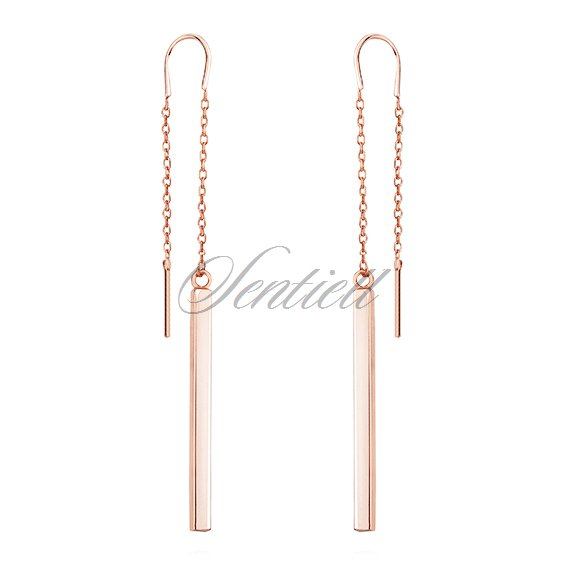 Silver (925) rose gold plated earrings