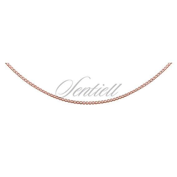 Silver (925) Venetian box chain  Ø 010, diamond-cut,  rose gold-plated