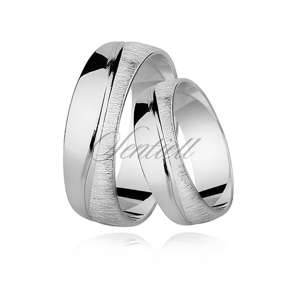 Silver (925) wedding ring, satin wave