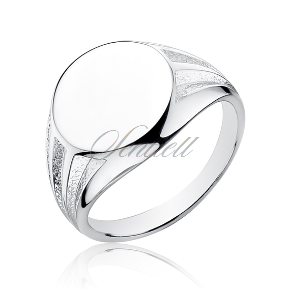 Silver signet ring 925 round shape