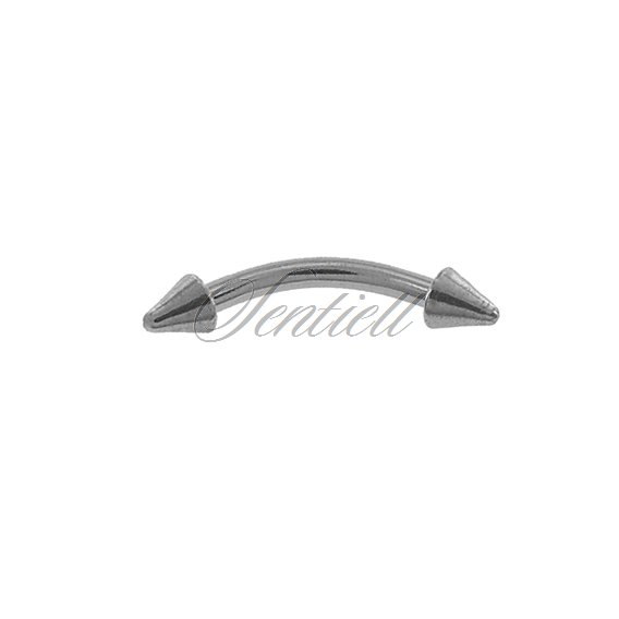 Stainless steel (316L) banana piercing for eyebrow